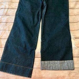🌟HP!🌟Avenue Contrasting Cuff Jeans